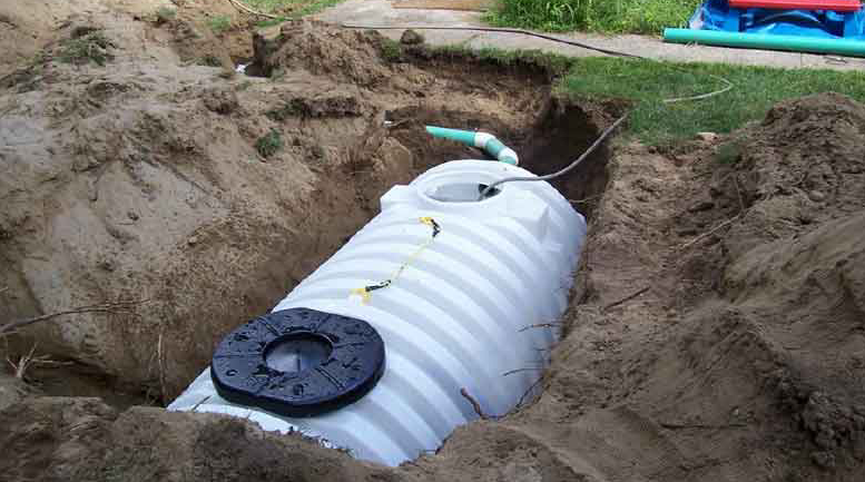 Open Septic Tank