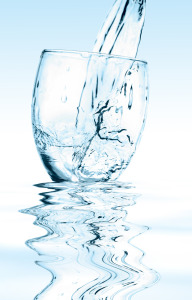 Water flowing to a cup.
